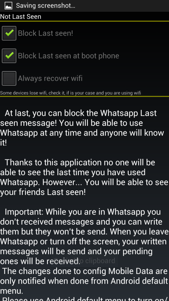 block last seen at boot phone option in not last seen app for android